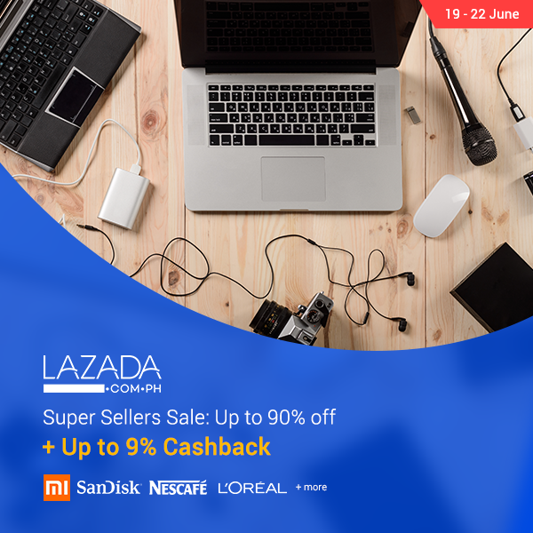 Lazada's Super Selller Sale: Up to 90% off + Up to 9% Cashback