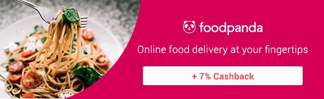 foodpanda Its the food you love delivered + 7% Cashback