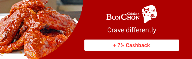 Crave differently with Bonchon + 7% Cashback via foodpanda