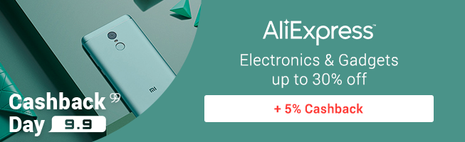 AliExpress: Electronics & Gadgets up to 30% off