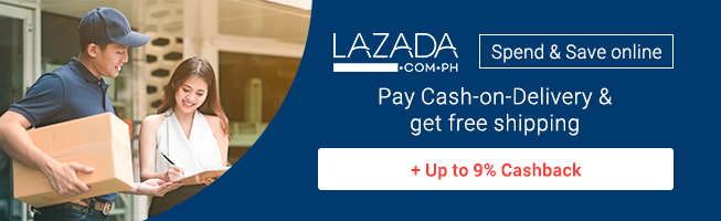 Lazada: Free Shipping + Up to 9% Cashback