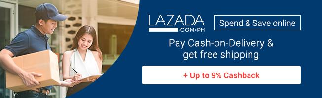 Lazada: Free Shipping + Up to 9% Cashback