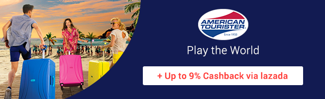 American Tourister: Play the world + Up to 9% Cashback via Lazada