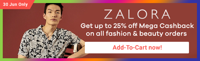 ZALORA: Big Fashion Up to 80% off + Flash Sale & Free Shipping