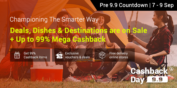 ShopBack's 9.9 Cashback Day is coming soon!