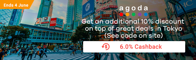 Agoda: Get an additional 10% off discount on top of great deals in Tokyo