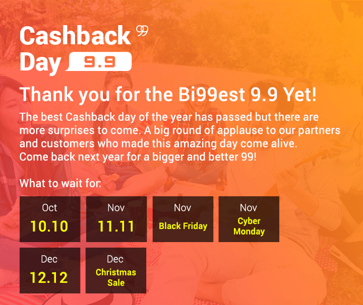 Thank you for the biggest Cashback day Yet!