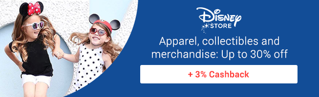 Original Disney Apparel for you and your friends + 3% Cashback