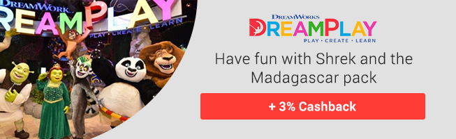 Grab your Dreamplay tickets & get 3% Cashback
