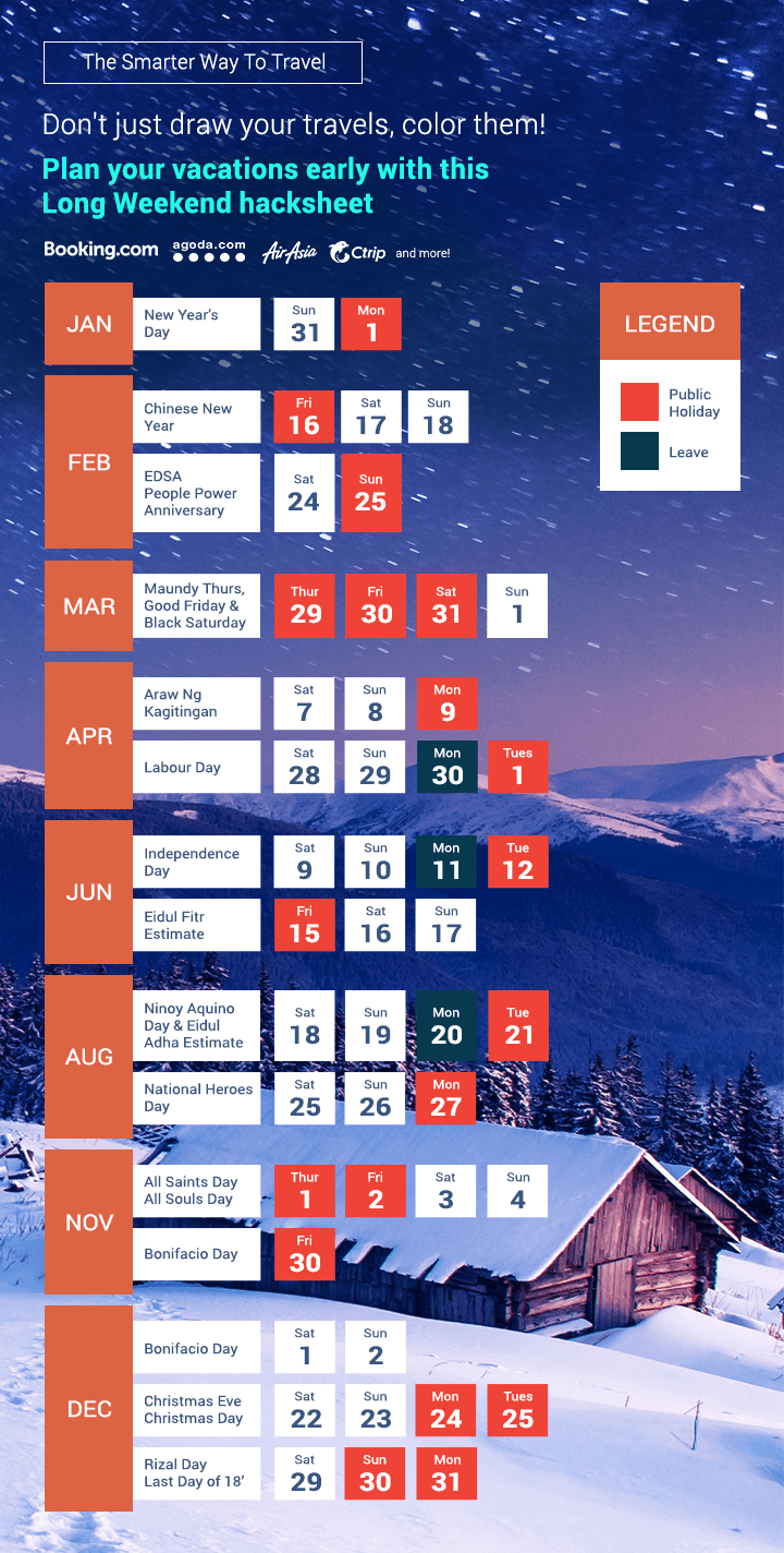Check out our 2018 Holiday Cheat Sheet