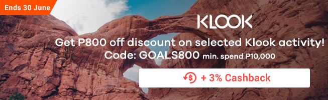 KLOOK: Get P800 off discount on selected Klook activity