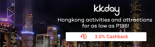 KKDay: Hongkong activities and attractions for as low as P136 + 3% Cashback