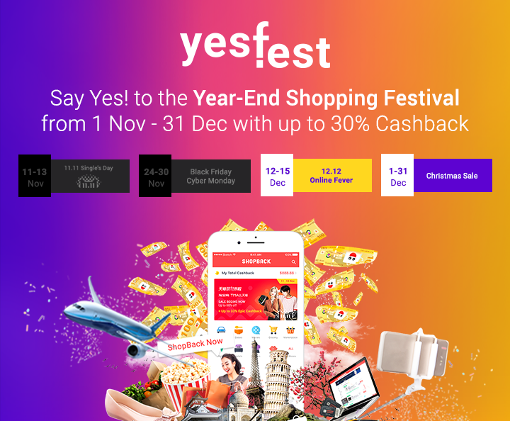 The only YES!Fest you need is on ShopBack