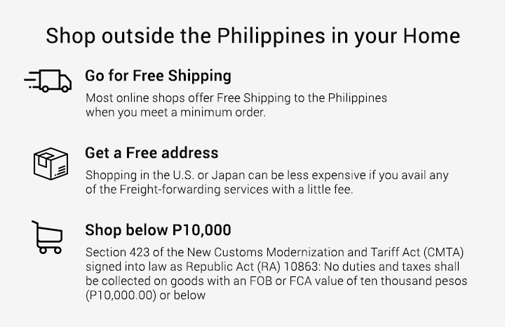 Shop outside the Philippines with ease