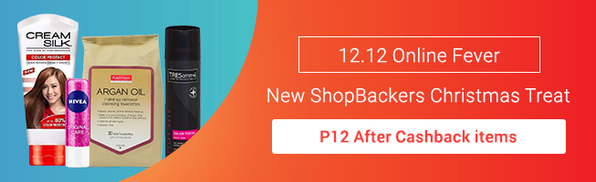 Get P12 items after Cashback for New ShopBackers