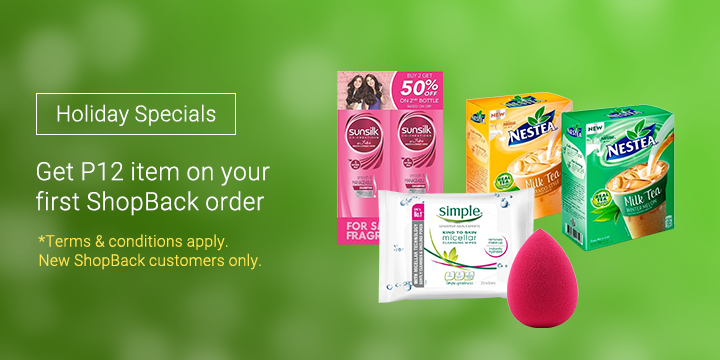 New ShopBackers: Get these items for only P12 After Cashback