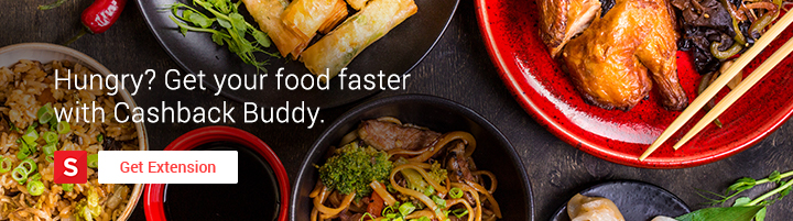 Hungry? Get your food faster with Cashback Buddy