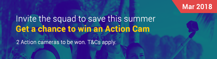 Invite the squad to save this summer Get a chance to win an Action Cam