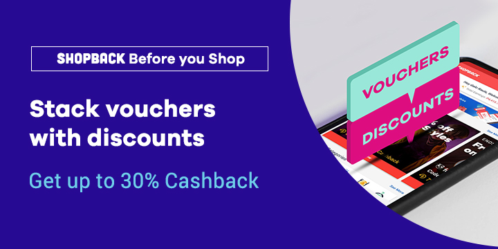 Refreshed Daily: Voucher codes + Cashback on ShopBack