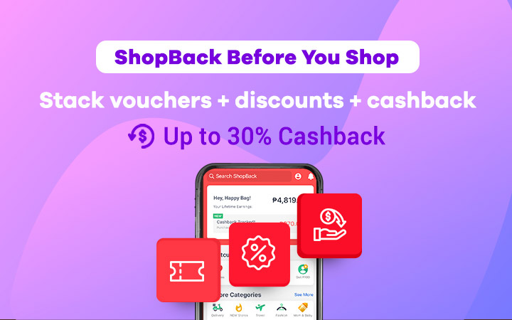Refreshed Daily: Voucher codes + Cashback on ShopBack
