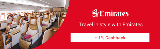 Emirates: Fly to iconic landmarks + 1% Cashback