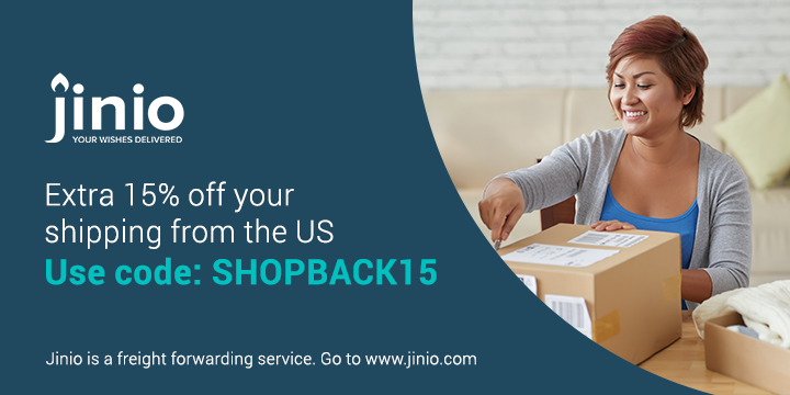 Get 15% off your shipping from the US