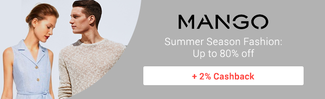 Mango: Summer Season Fashion up to 80% off