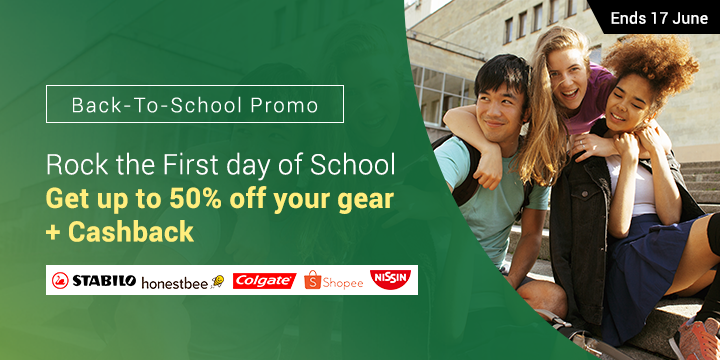 Back-to-School Promo: Rock the First day of School Get up to 50% off your gear + Up to 9% Cashback