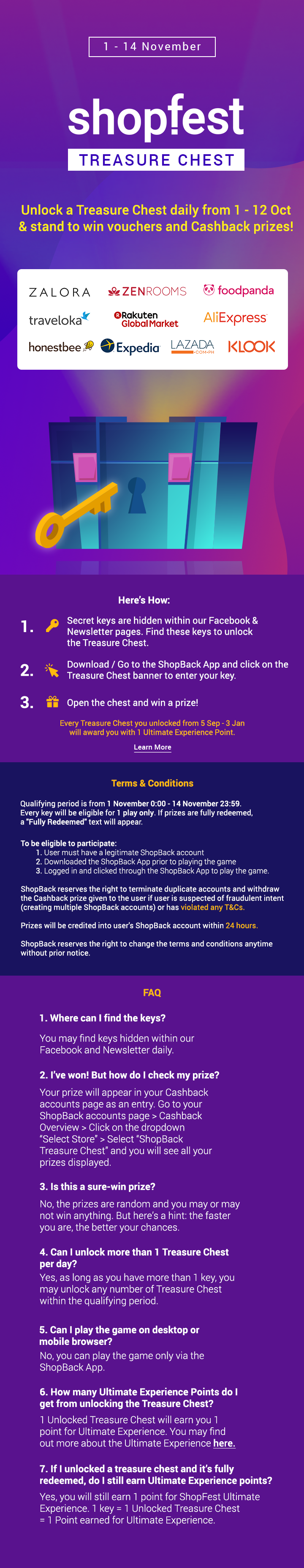 Play the Treasure Chest game on ShopBack & Win Exciting Prizes!