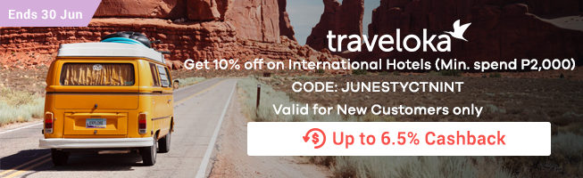 Traveloka: Get 10% off on International Hotels (Min. spend P2,000)