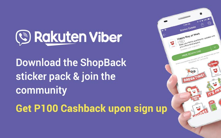 Download the ShopBack sticker pack & join the community