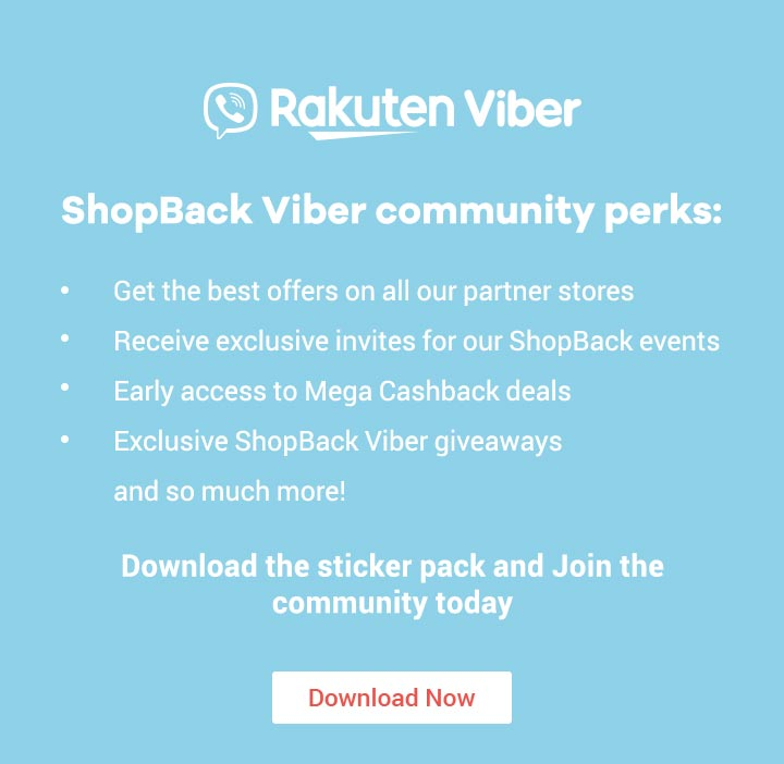 ShopBack Viber Community perks
