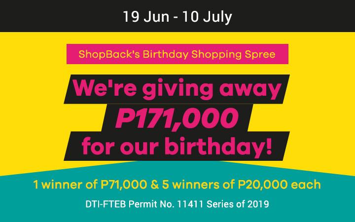 ShopBack Birthday Shopping Spree 2019