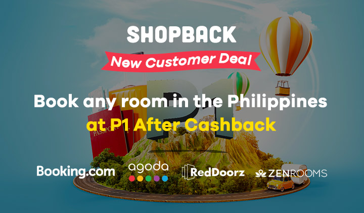 Get your first travel booking at P1 After Cashback with ShopBack