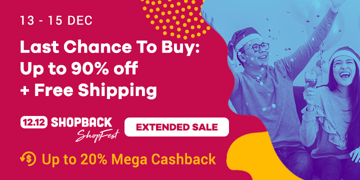 12.12 Biggest Year End Sale: Up to 90% off + Free Shipping