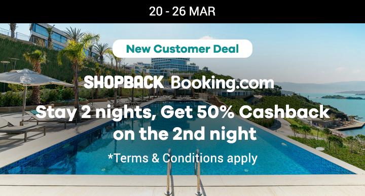 Stay 2 night, Get 50% off cashback
