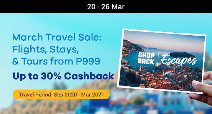 ShopBack March Travel Sale