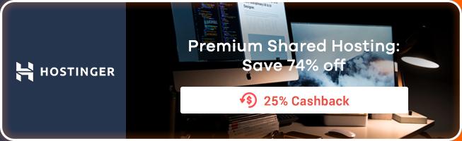 Hostinger: Premium Shared Hosting: Save 74% off