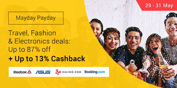 Ends 31 May | Payday Deals on Fashion, Travel & Electronics + Up to 13% Cashback
