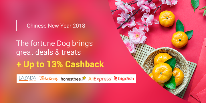 Chinese New Year Sale: Deals up to 88% off + Up to 13% Cashback