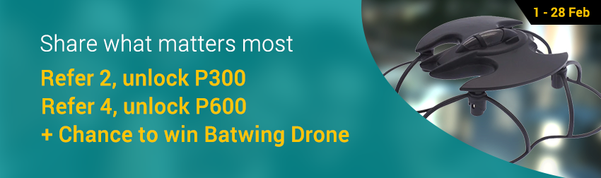 Refer your friends this CNY & win a Batwing Drone