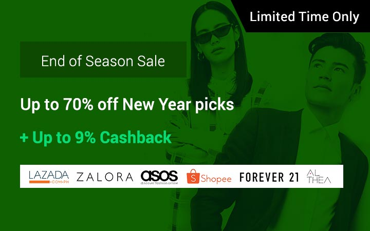End of Season Sale: Deals up to 80% off + Up to 13% Cashback