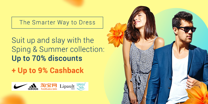 Fashion and Beauty: Up to 80% off + Up to 9% Cashback