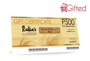 Rustan's Gift Certificate