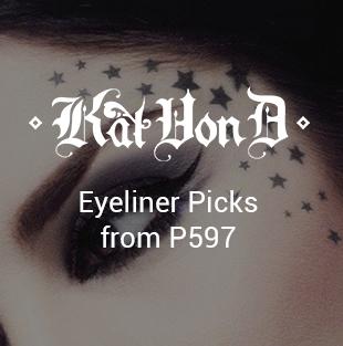 Eyeliners on Kat Von D