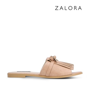 ZALORA Fringed Sliders