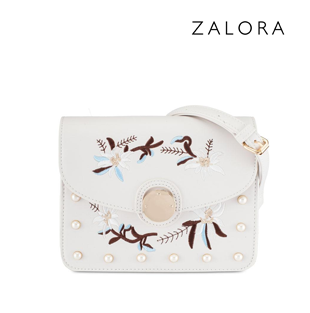Embroidered Detail Sling Bag