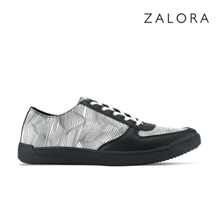 Geometric Faux Leather Sneakers