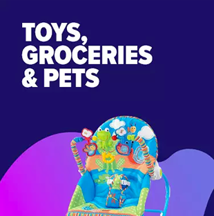 Toys, Groceries & Pets