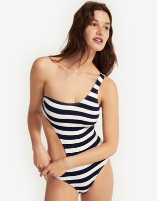 Nautical Asymmetric Swimsuit